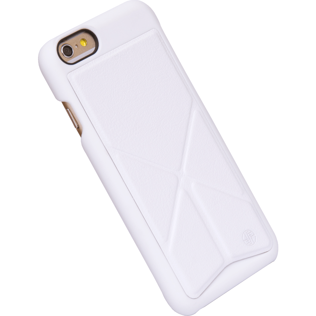 DRACO Design Tigris Polycarbonate Hard Shell Stand iPhone 6/6s Plus Case | White TI6P0P-WH