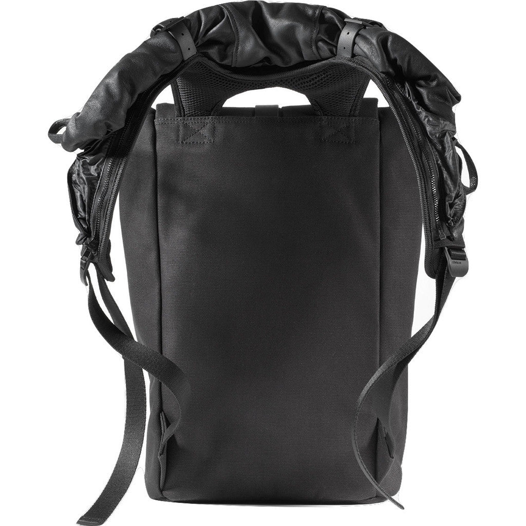 Cote&Ciel Tigris Waxed Canvas Backpack | Jasper Black 28455