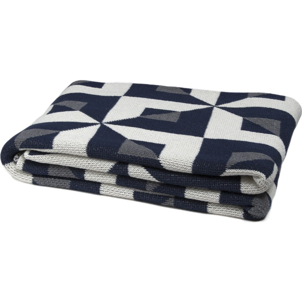 in2green Tile Eco Throw | Marine/Smoke BL01TL3