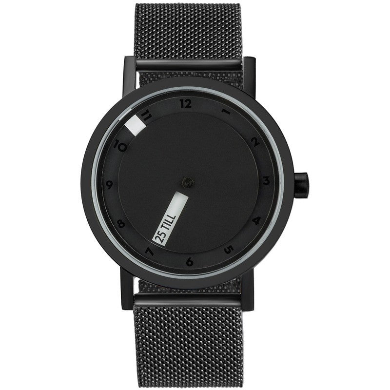 Projects Watches Daniel Will-Harris 'Till Watch | Black Metal Mesh