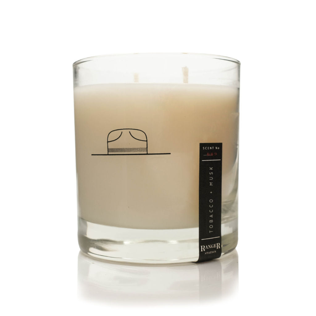 Ranger Station Soy Based Wax Candle | Tobacco + Musk RS_005