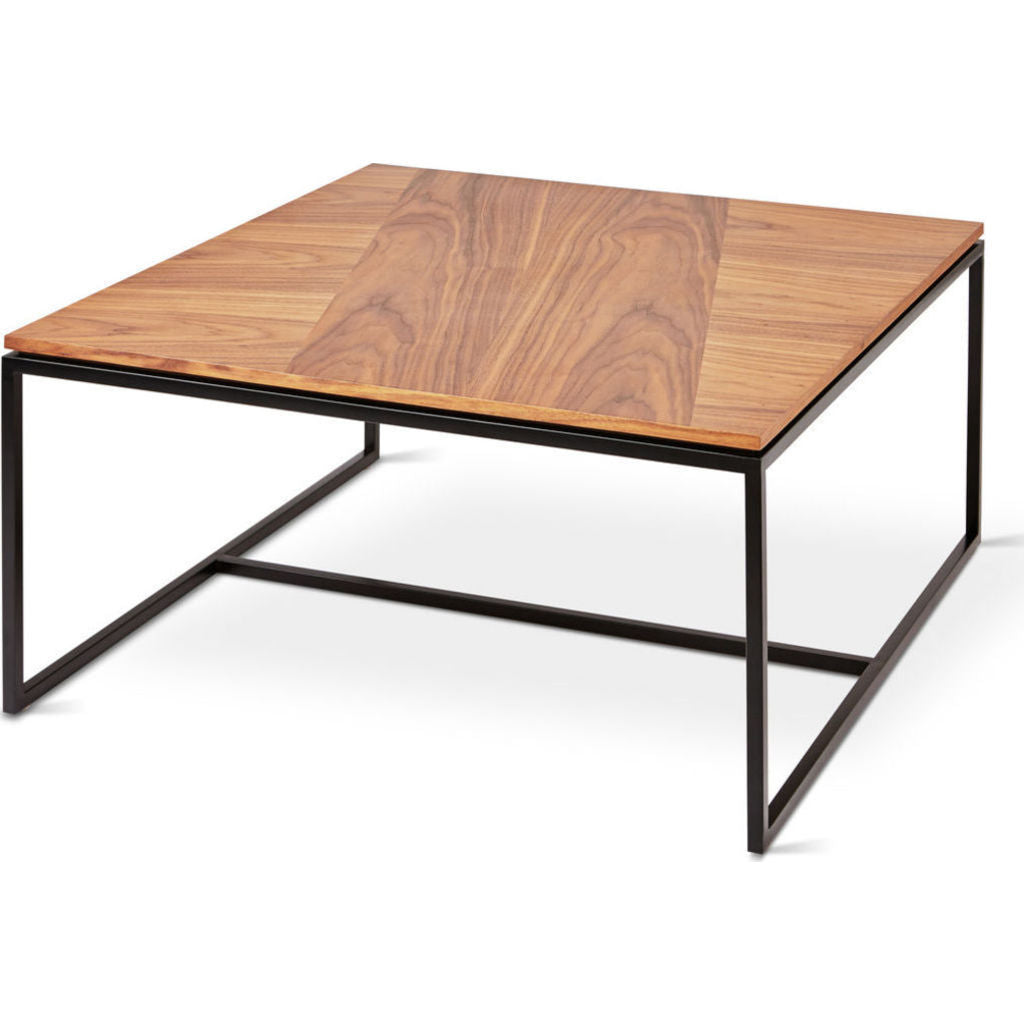 Gus* Modern Tobias Square Coffee Table | Walnut/Black ECCTTOBI-wn-bl