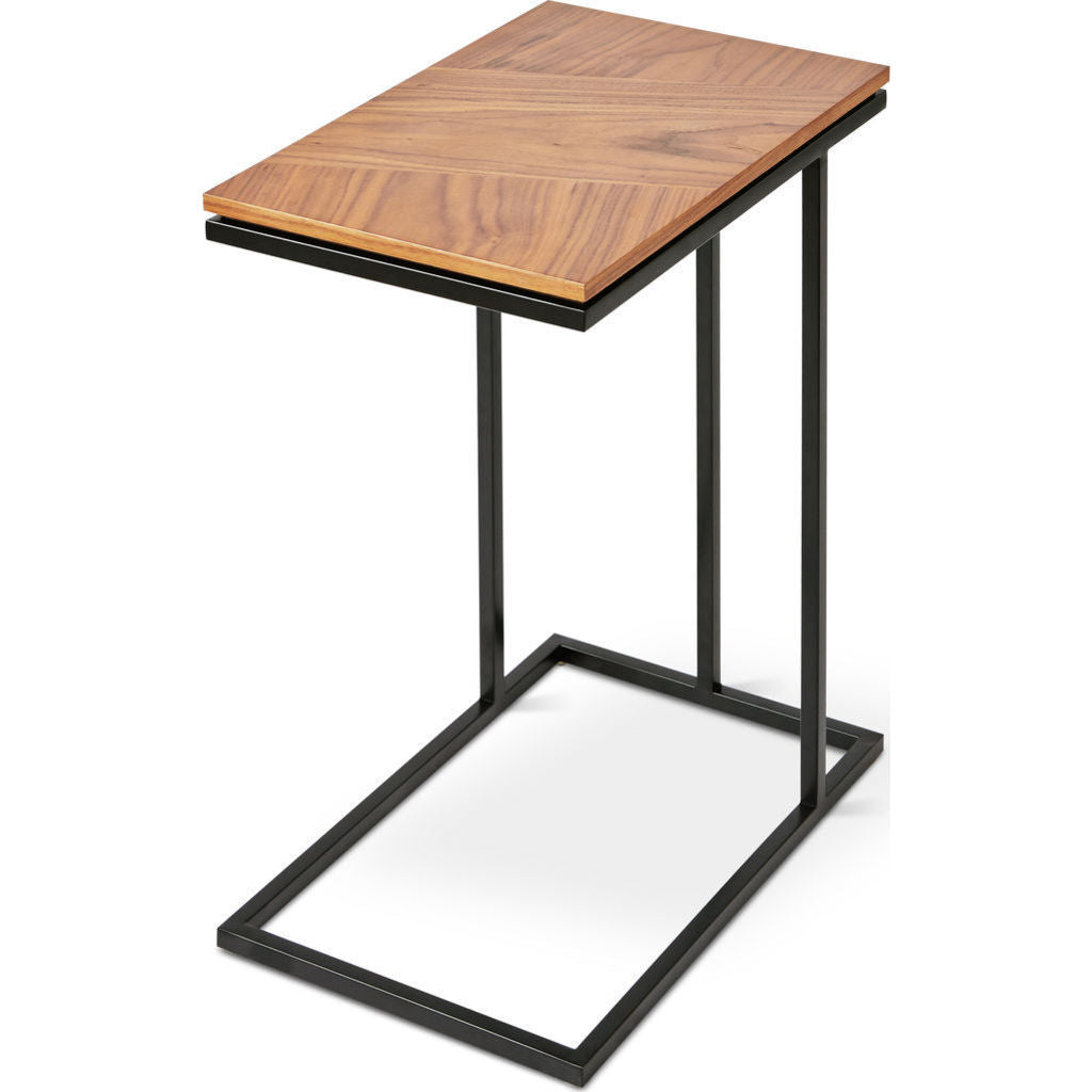 Gus* Modern Tobias Nesting Table | Walnut/Black ECNTTOBI-wn-bl