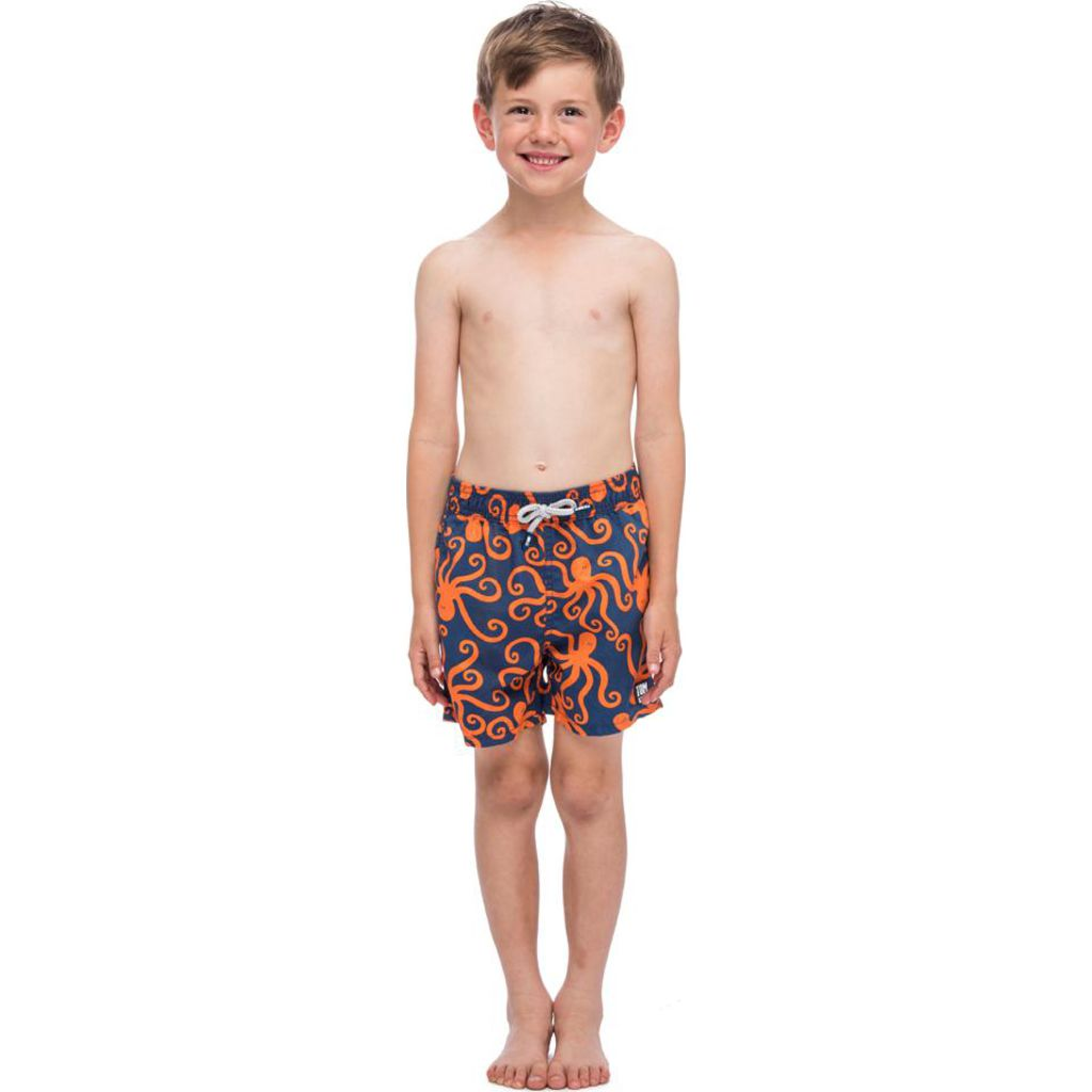 Tom & Teddy Octopus Swim Trunk | Blue/Orange / 1-2