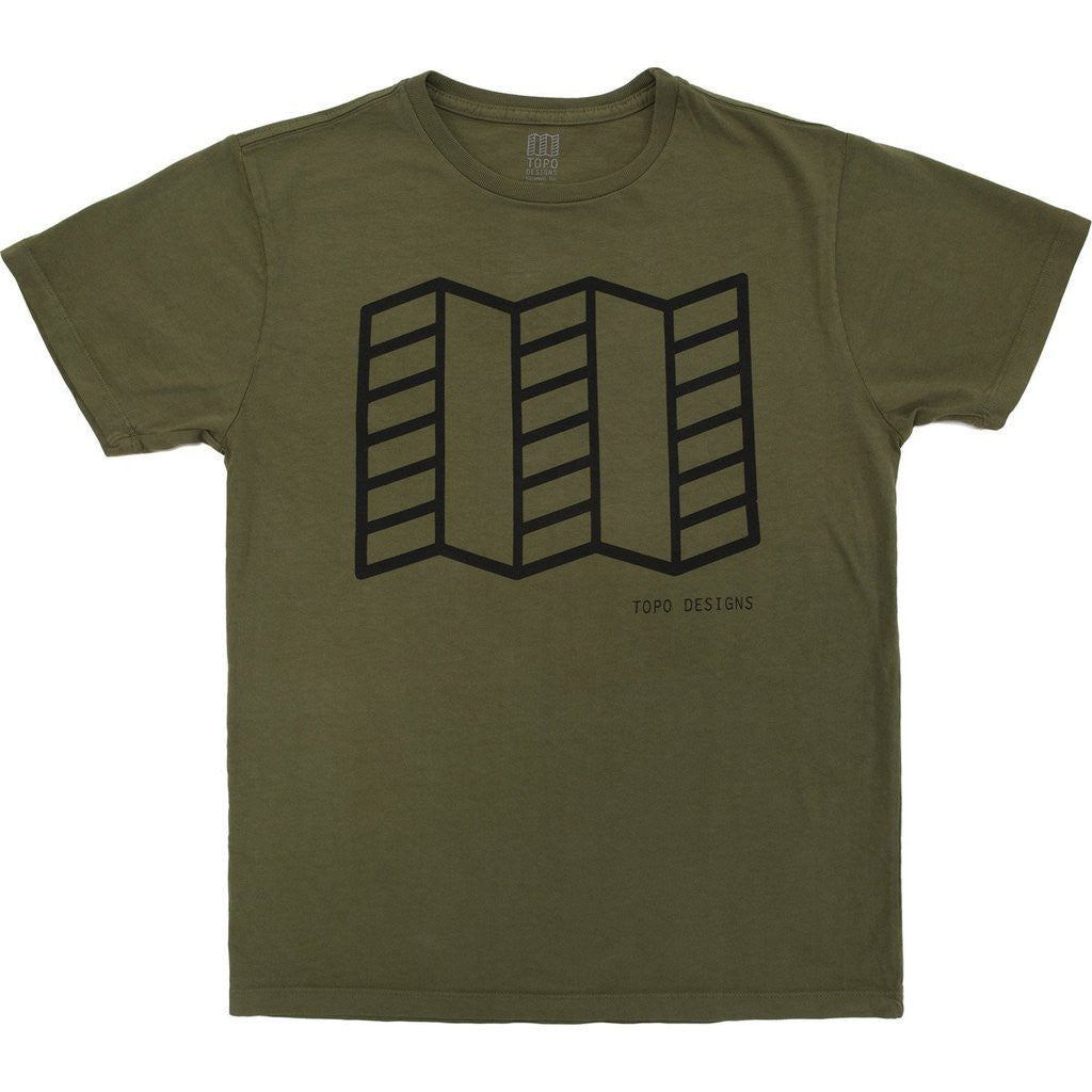 Topo Designs Men's Map Tee Shirt | Olive