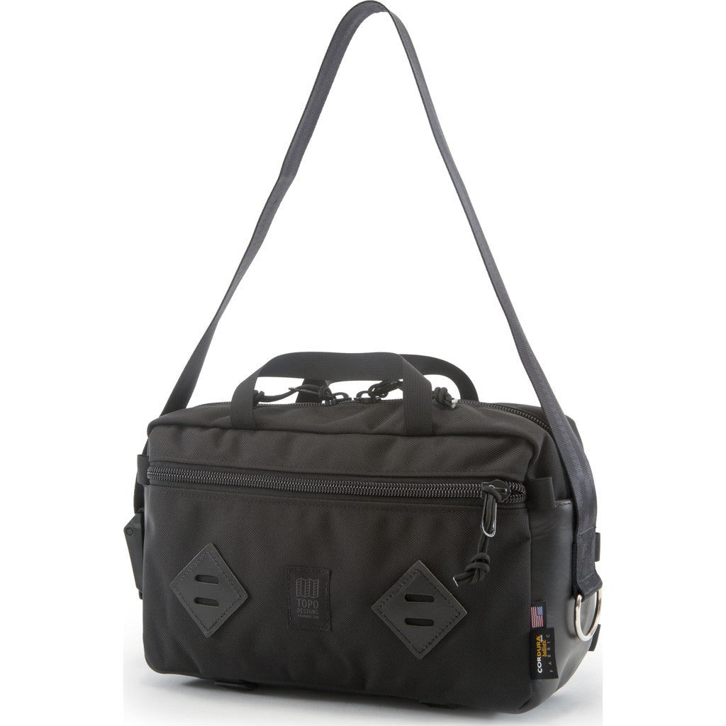 Topo Designs Mini Mountain Bag | Ballistic/Black Leather