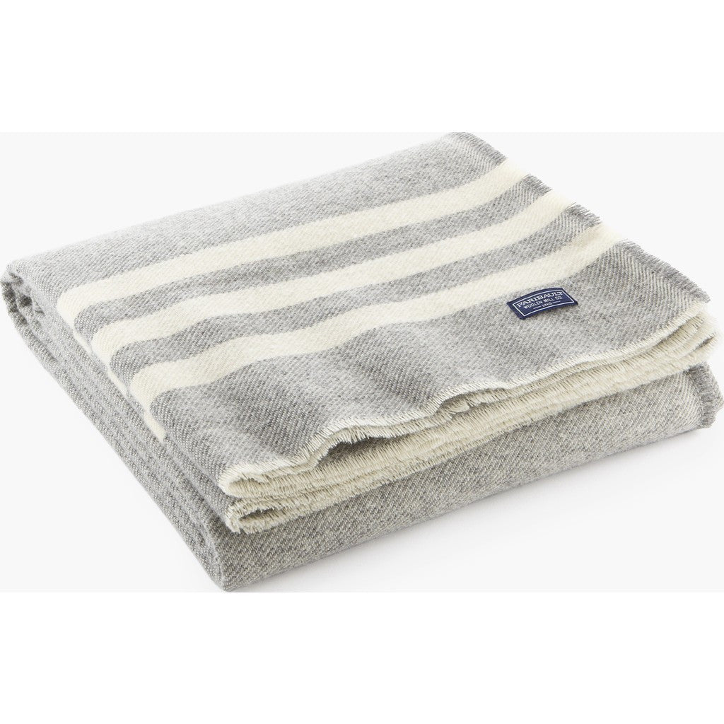 Faribault Trapper Wool Throw | Gray/Natural 6317 50x72