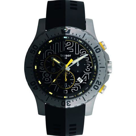 traser H3 Elite Chronograph Watch | Silicone Strap 105858