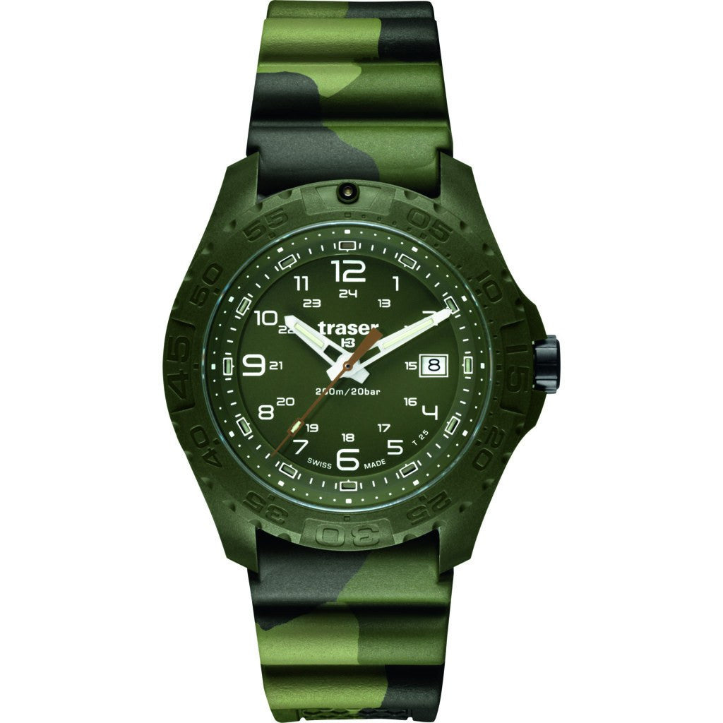 Traser H3 Soldier Watch | Camo Rubber Strap 106631