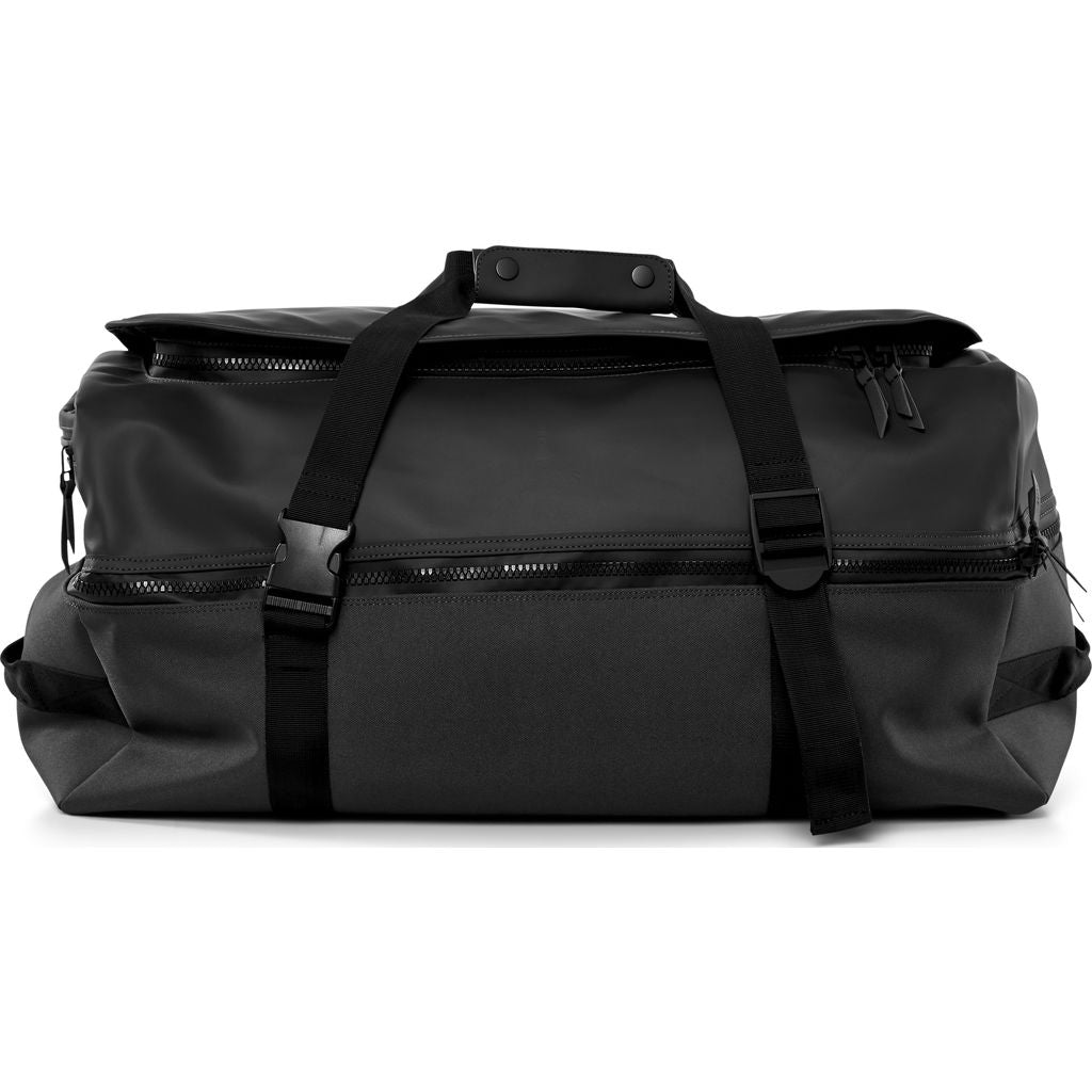 RAINS Large Waterproof Duffel Backpack | Black 1317 01