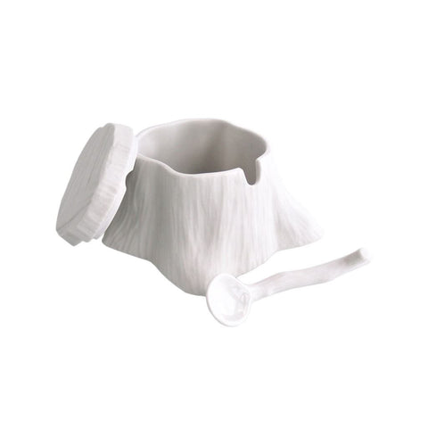 Michiko Shimada Tree Stump Salt/Sugar Cellar | White