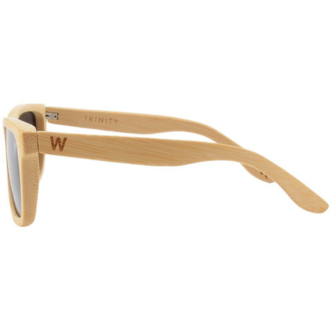 Woodzee Trinity Bamboo Sunglasses | Natural