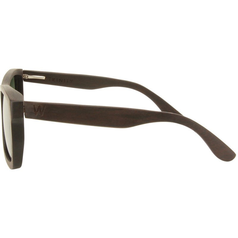 Woodzee Trinity Guibourtia Wood Sunglasses | Green/Grey