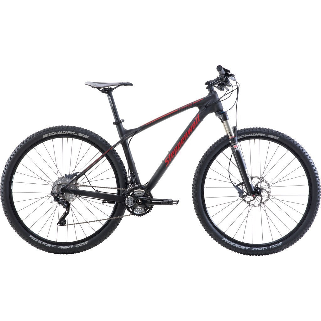 Steppenwolf Tundra Carbon Race Hardtail MTB Bicycle | Black/Red- SWM235-4701