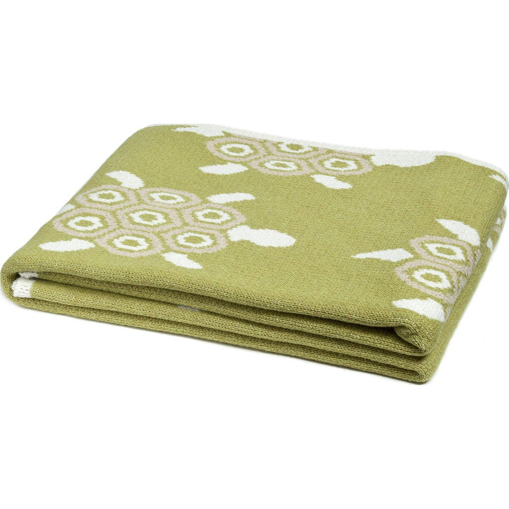 in2green Turtles Eco Throw | Pistachio/Flax BL01TT5