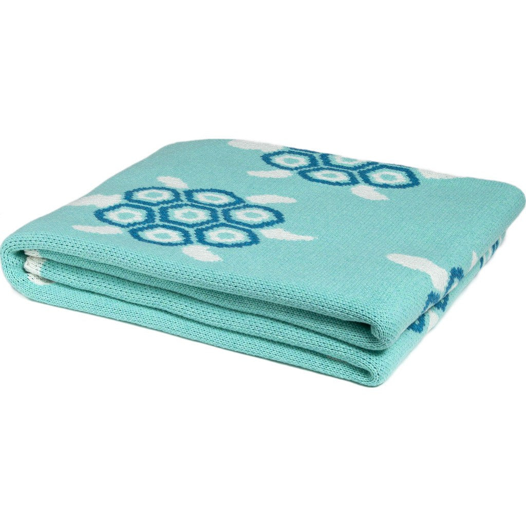 in2green Turtles Eco Throw | Seafoam/Turquoise BL01TT1