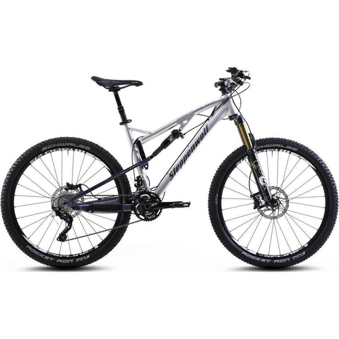 Steppenwolf Tycoon LTD Pro Full Suspension Bicycle | Chrome/Dark Blue- SWM435-4201