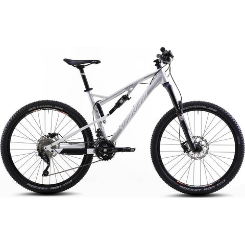 Steppenwolf Tycoon Sport Full Suspension Bicycle | Silver/Matte White- SWM415-4201