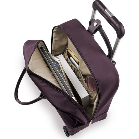 Briggs & Riley Baseline LTD Wheeled Cabin Duffle Bag | Plum