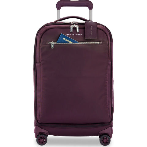 Briggs & Riley Baseline LTD International Expandable Carry-On Spinner Suitcase | Plum