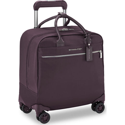 Briggs & Riley Baseline LTD Domestic Expandable Carry-on Spinner Suitcase | Plum