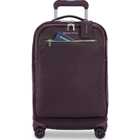 Briggs & Riley Baseline LTD Large Expandable Carry-on Spinner Suitcase | Plum