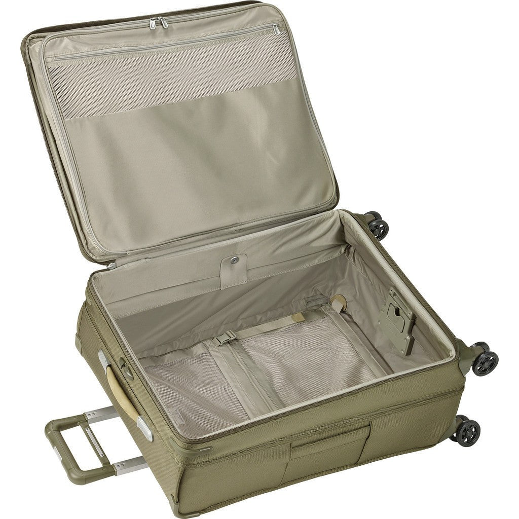 Briggs & Riley Large Expandable Spinner Suitcase | Olive