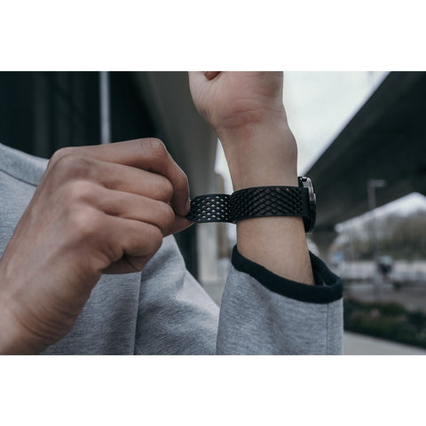 Greyhours x Noomoon Rubber Watch Strap | Black LABB-FKM-BLACK