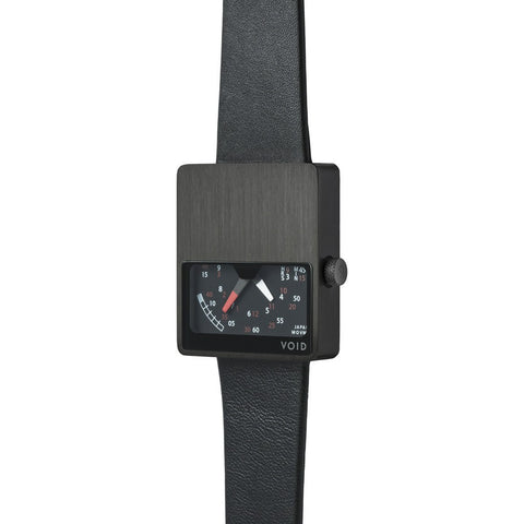 VOID V02 Matte Black Analogue Watch | Black Leather V02MKII-BL/BL