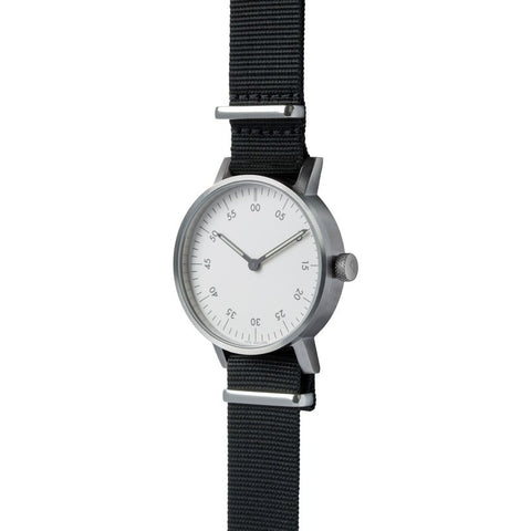 VOID V03B Watch | Brushed Stainless/White V03B-BR/BL/WH