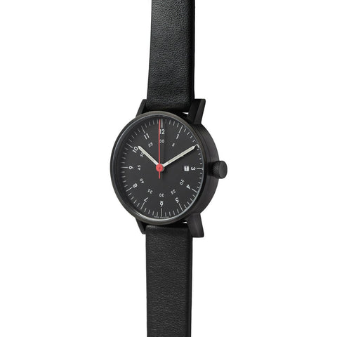 VOID V03D Round Date Black Watch | Black Leather V03D-BL/BL/BL