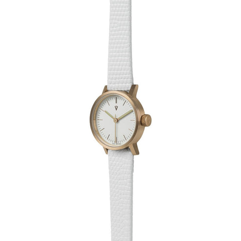 VOID V03P Copper Round Petite White Watch | White Lizard Pattern V03P-CO/WL/WH