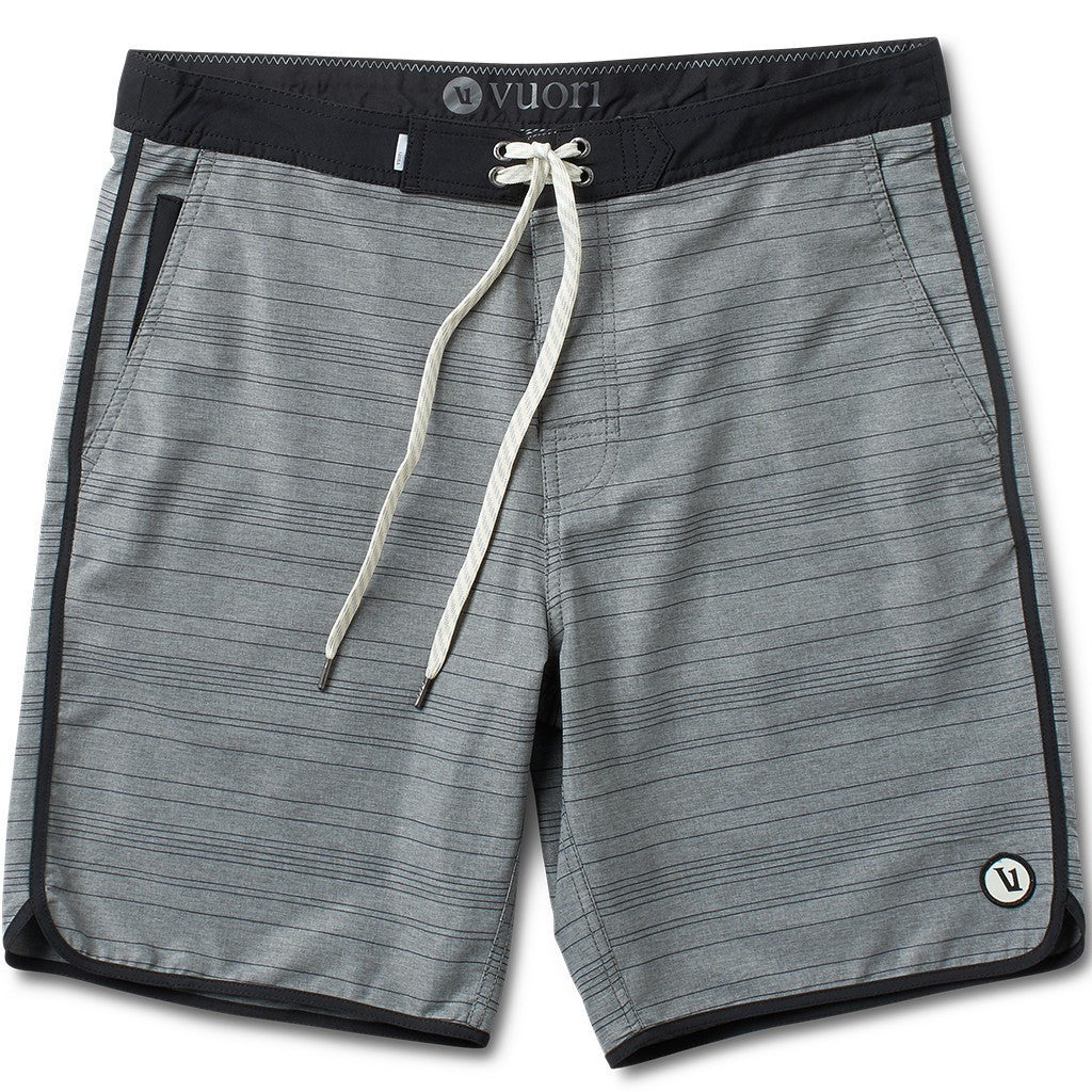 Vuori Cruise Boardshorts | Grey Micro Stripe V326