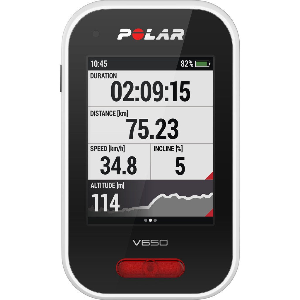 Polar V650 Cycling Computer HR Bundle | Black
