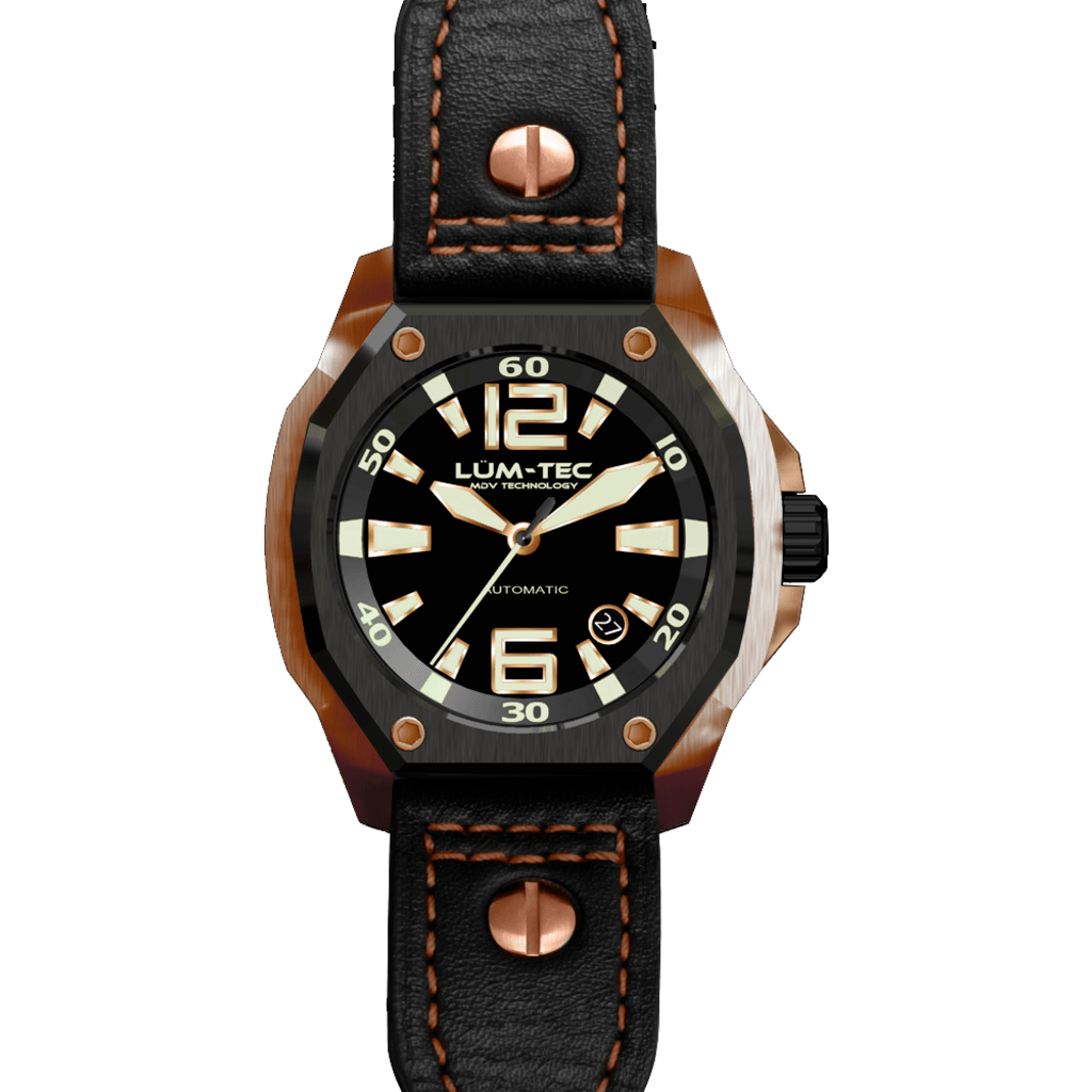 Lum-Tec V6 Watch | Leather Strap