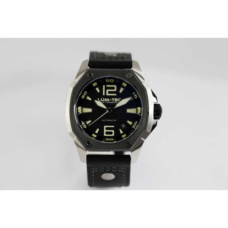 Lum-Tec V7 Watch | Black Steel V-Series