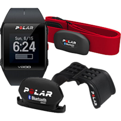 Polar V800 GPS Sport Tracking Watch HR Cycling Bundle | Red 90061182