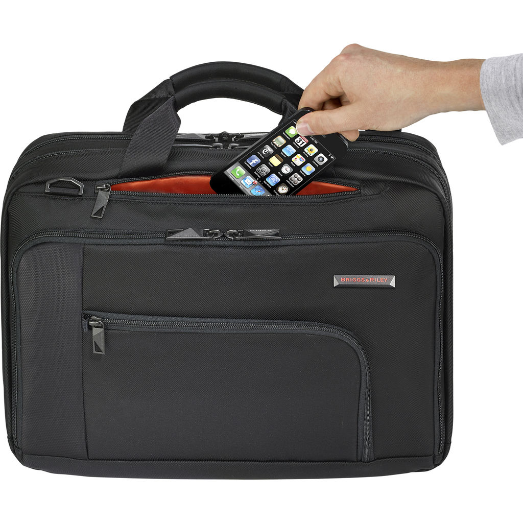 Briggs & Riley Contact Medium Breif Case  | Black- VB200