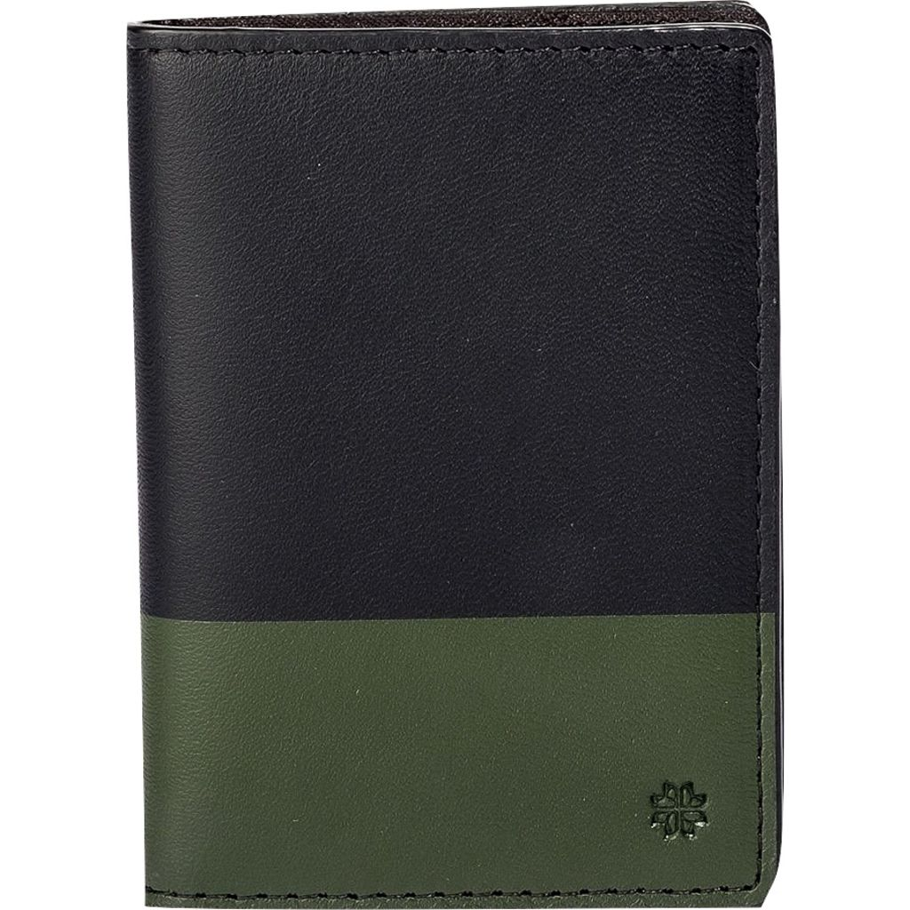 Hook & Albert Leather Vertical Bi-fold Wallet | Black & Olive