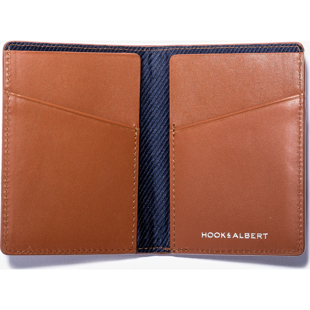 Hook & Albert Leather Vertical Bi-Fold Wallet | Brown VBFWL-BRN-OS