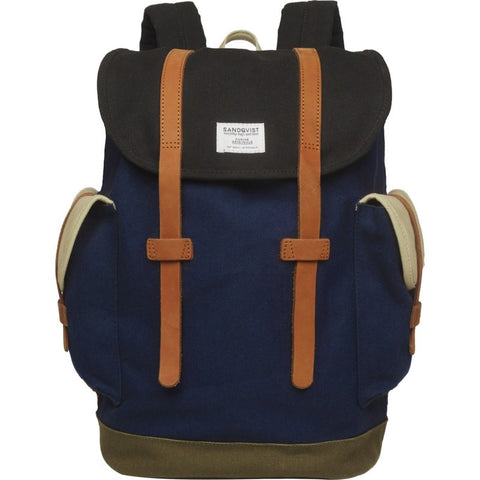 Sandqvist Vidar Backpack | Multi Blue/Black