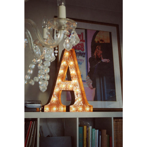 "Vintage Marquee Lights 24"" Letter A Decorative Light 