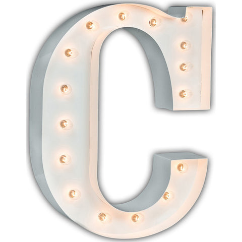 "Vintage Marquee Lights 24"" Letter C Decorative Light 