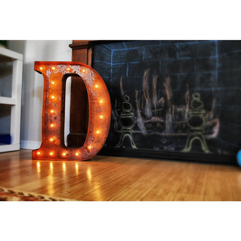 "Vintage Marquee Lights 24"" Letter D Decorative Light 