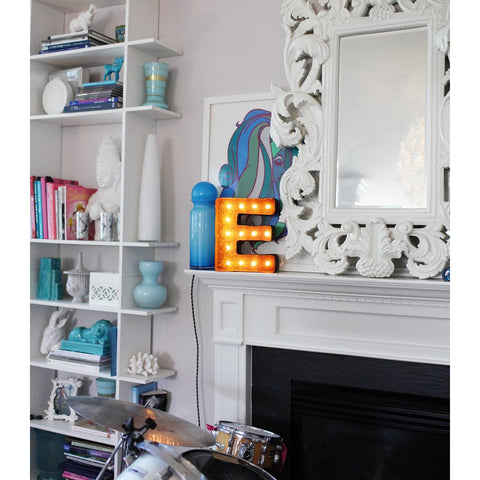 "Vintage Marquee Lights 12"" Letter E Decorative Light 