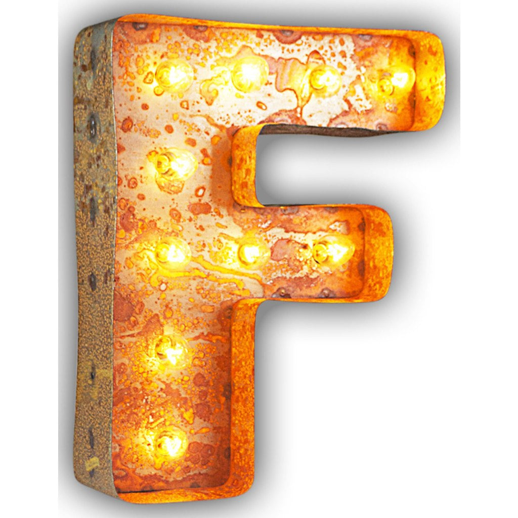 "Vintage Marquee Lights 12"" Letter F Decorative Light 