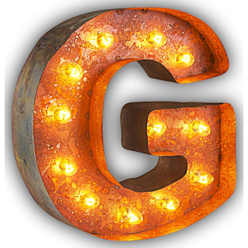 "Vintage Marquee Lights 12"" Letter G Decorative Light 