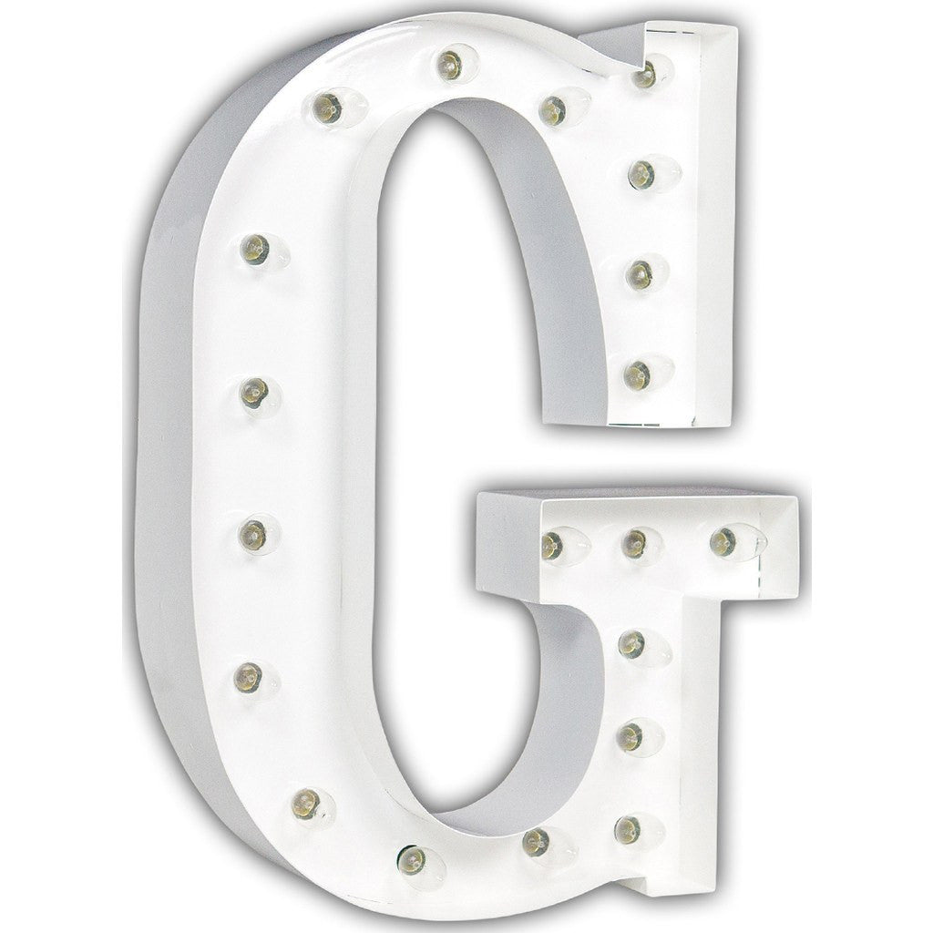 "Vintage Marquee Lights 24"" Letter G Decorative Light 