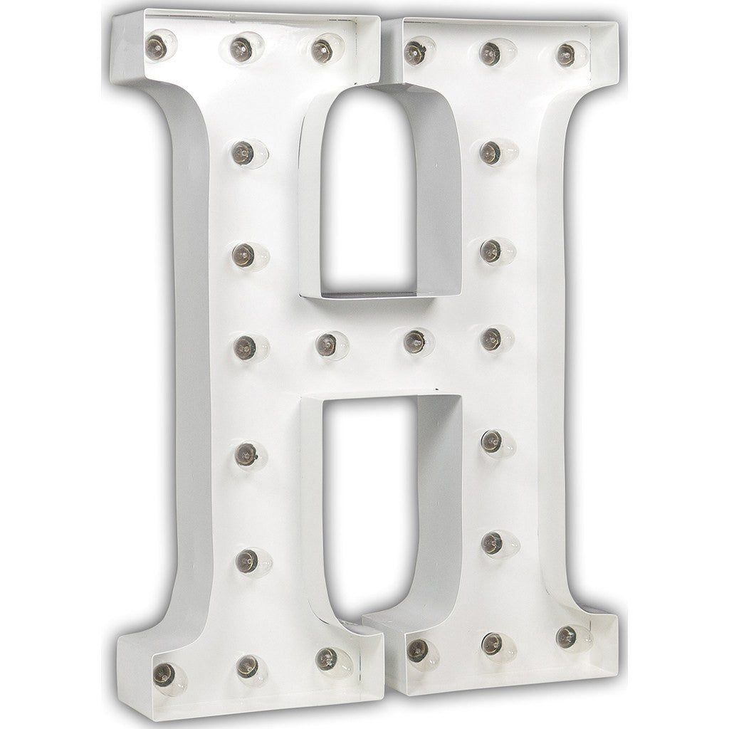 "Vintage Marquee Lights 24"" Letter H Decorative Light 
