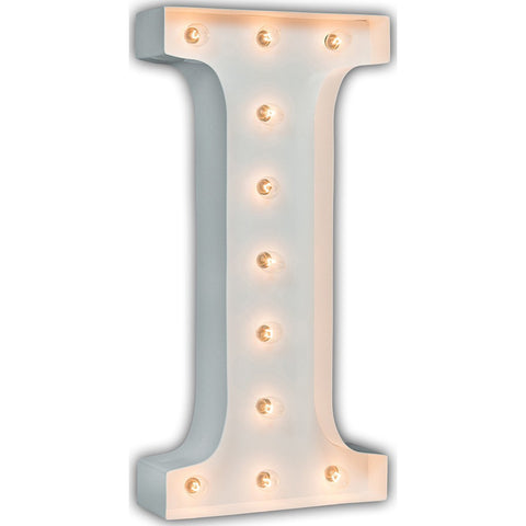 "Vintage Marquee Lights 24"" Letter I Decorative Light 